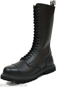 sicurezza nero Cs Derby pelle sicurezza in punta Grinders stivali re in di di Uomo fori 20 acciaio Iwqn1t8EC