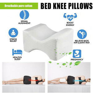 Contour-Memory-Foam-Knee-Leg-Pillow-Cushion-Hips-Knee-Support-Orthopaedic-Back