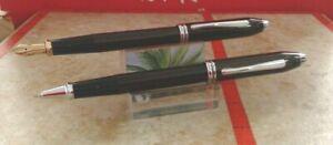 Cross Townsend Royal Smooth Satin Matte Black  Fountain Pen and Rollerball Pen