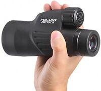 Polaris Optics 12x50 Monocular - Waterproof, Fogproof - Bird Wildlife - Tripod