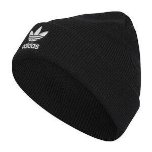 Adidas-Original-Fold-Beanie-Men-Team-Issue-Hat-Black-Warm-Climawarm-Knit-Winter