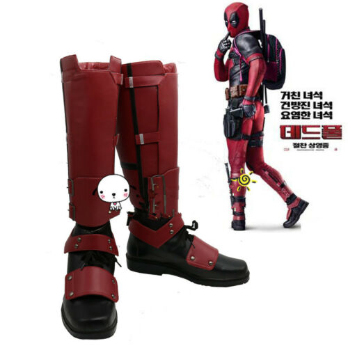 Marvel Deadpool 2 Boots Party Cosplay Shoes Custom Unisex Gift Movie