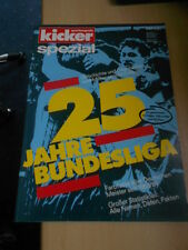 Kicker Sportmagazin Sonderheft 25 Jahre Bundesliga