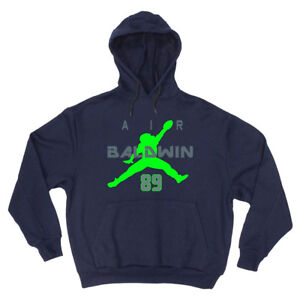 on sale aaaed 02ddf Details about SALE HOODED SWEATSHIRT Doug Baldwin Seattle Seahawks Air  YOUTH MEDIUM