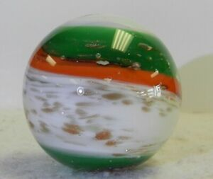 #12231m Beautiful Handmade Contemporary Keith Baker Marble With Lutz *Mint*