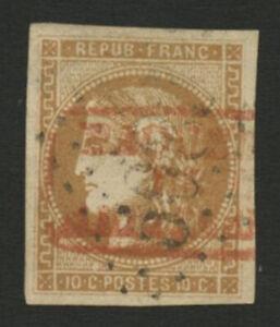 10c BORDEAUX N°49 OBL. PAQUEBOT DE LA MEDITERRANEE + GC 5083