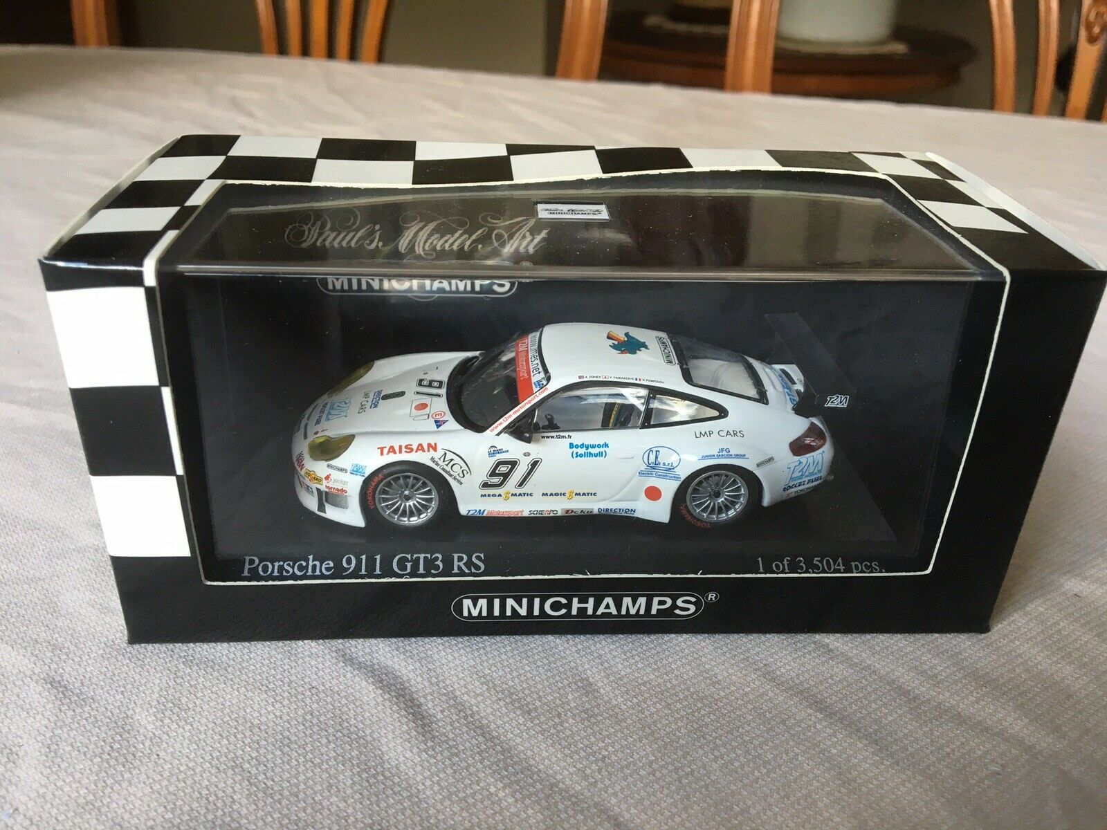 Minichamps Porsche 911 GT3 RS. 1000km Spa 2005.   T2M. In 1 43 scale diecast
