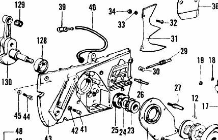 part chain tensioner mcculloch chainsaw titan 560 620