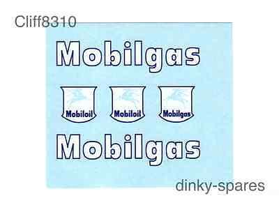 Dinky 941 Foden Mobilgas petrolero transferencias//Calcomanías