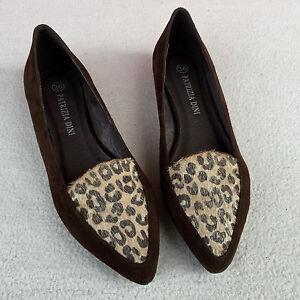 echtleder damen ballerinas leo print slipper von patrizia. Black Bedroom Furniture Sets. Home Design Ideas