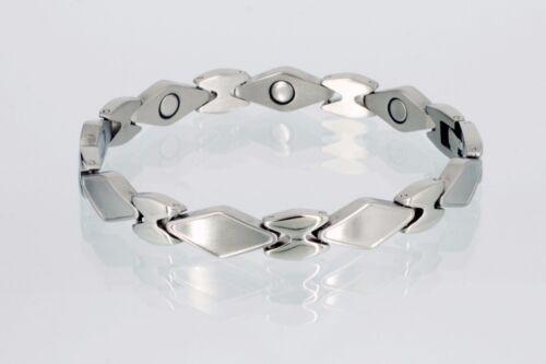 Armband Damen silberfarben Magnetarmband Cristor Magnetschmuck 89446 S //2