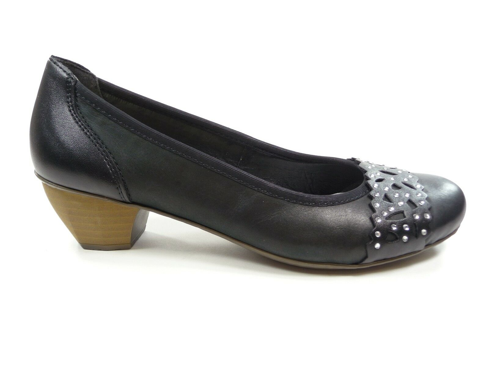 Rieker Schuhe Damenschuhe Pumps in Schwarz mit Art.Nr.41791-00