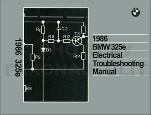 1986 bmw 325e electrical troubleshooting manual wiring diagram book rh ebay ie
