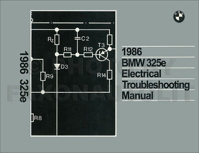 1986 BMW 325e Electrical Troubleshooting Manual Wiring ...