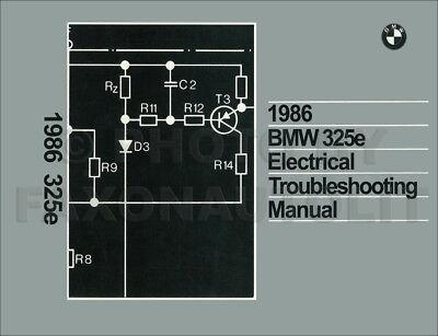 1986 BMW 325e Electrical Troubleshooting Manual Wiring Diagram Book 325 e |  eBayeBay