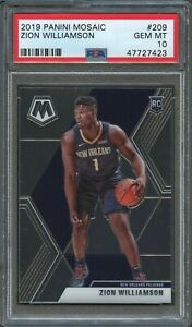 2019-Panini-Mosaic-209-Zion-Williamson-PSA-10-Gem-Mint-GSM