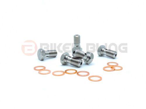1x Honda VTR1000 SP1 SP2 2001-2006 stainless steel brake banjo bolt /& washers