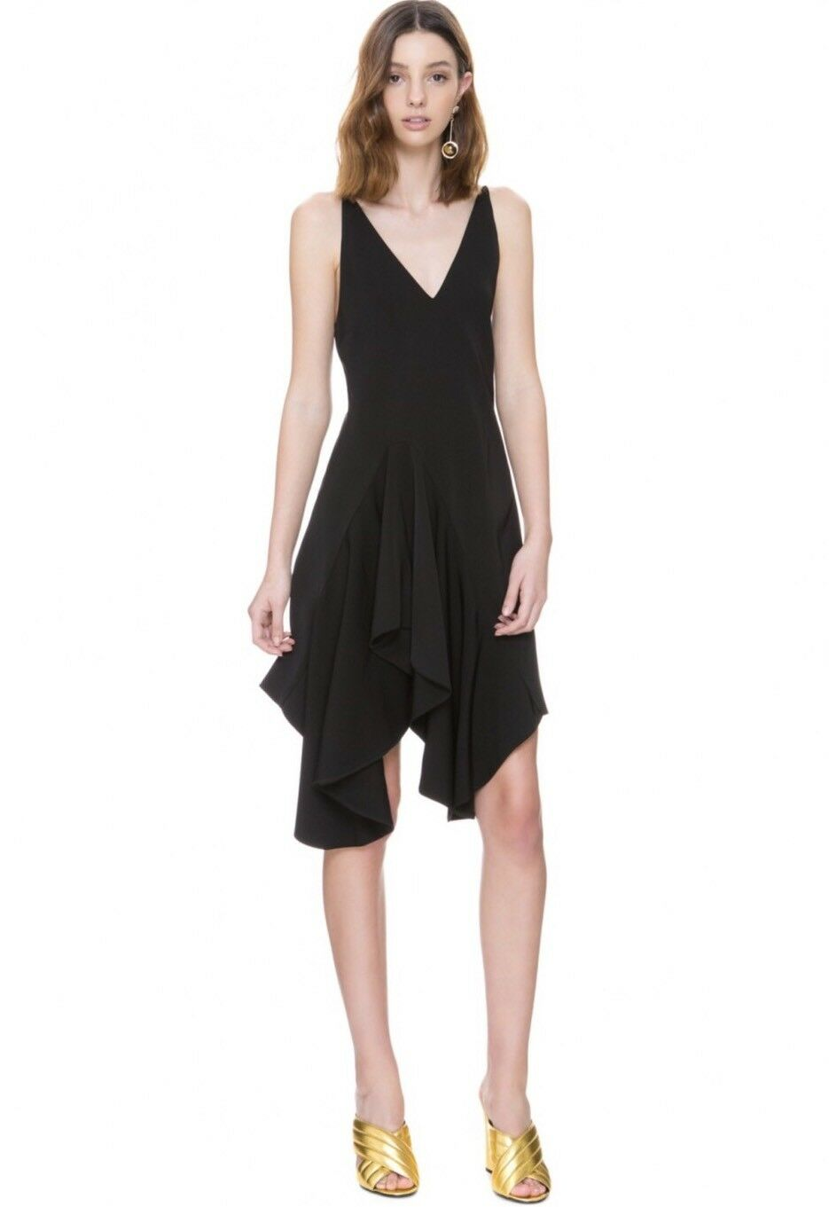 NWT C Meo Collective Spelt Out Dress Größe Medium schwarz LBD