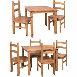 Table Chairs Mexican Solid Waxed Pine