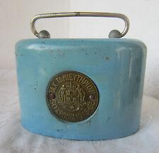 Antique Advertising  blue metal  Still  Bank