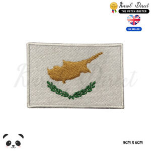 CYPRUS-National-Flag-Embroidered-Iron-On-Sew-On-Patch-Badge-For-Clothes-etc