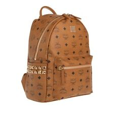 MCM Stark Small Side-Studded Backpack - Cognac