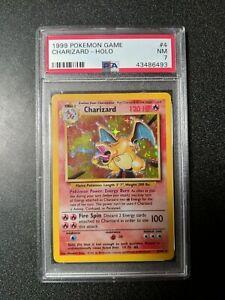 PSA 7 NM Pokémon 1999 Base Set Charizard 4/102 Holo Rare
