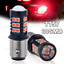 2x 30SMD 3030 2357 1157 BAY15D Red Super Bright Tail Stop Brake Light LED Bulb