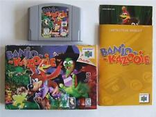 BANJO-KAZOOIE Nintendo 64 N64 Video Game Complete CIB Rare MUST HAVE FUN!