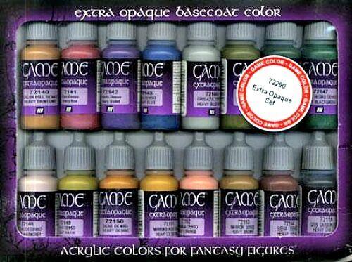 Vallejo BNIB AV Vallejo Game color Set - Extra Opaque (x16) VAL72290