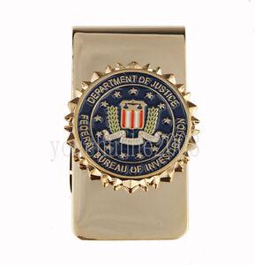 us united states department of justice metal badge money clip 33895 ebay. Black Bedroom Furniture Sets. Home Design Ideas