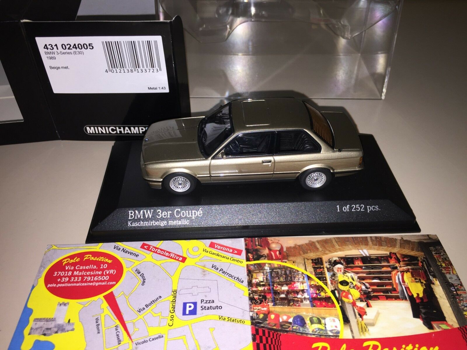 431024005 MINICHAMPS 1 43 BMW 3 Series COUPE E30 BEIGE LIM 252 PCS NEW MEGA RARE