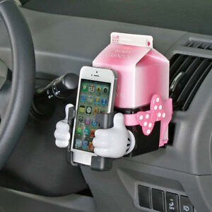 new disney minnie mouse cup holder phone holder car accessories ebay. Black Bedroom Furniture Sets. Home Design Ideas