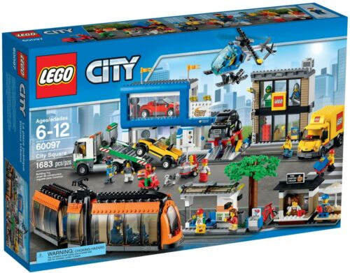 NEW SEALED LEGO 60097 CITY SQUARE TROLLEY DELIVERY TRUCK TOY STORE HELICOPTER