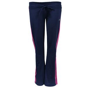 Adidas-Performance-GB-3s-rayas-mujer-azul-marino-Gimnasio-Ejercicio-Pantalones