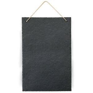 Schiefertafel zum Hängen 15 x 20 cm Schwarz Tafel Schiefer zum beschriften