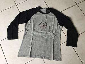 ceeb38c525b10 Tee-shirt DKNY JEANS taille M Soit 14 16 Ans gris et Noir bon état ...