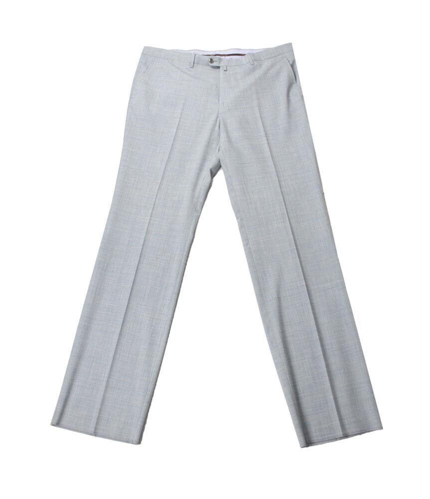 men Collezioni Men's Grey Virgin Wool Formal Pants, Size 58(42 US), 60(44 US)