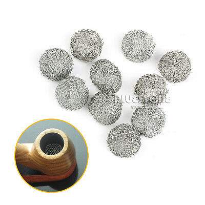 10pcs 17mm Tobacco Pipe Silver Screen Ball Filter Metal for Promotion Combustion