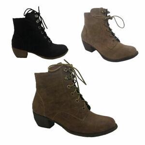 Ladies Boots No Shoes Kristina Lace up