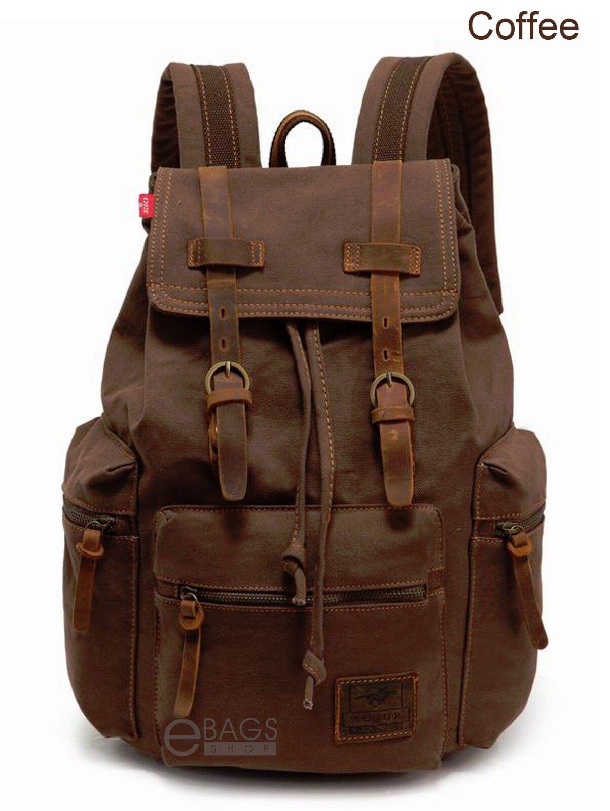d8ec19c20c Travel Canvas Sport Rucksack Camping School Satchel Laptop Hiking ...