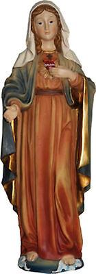 """Madonna """"herz-maria"""" A.polyresin Handbemalt 26 Cm Mutter Gottes Geschenk Wohltuend FüR Das Sperma"""