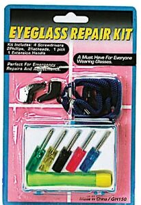 Eyeglass Repair ASSORTED Screwdriver Jeweler Glasses Kit WITH CASE. New