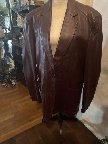 mens leather jacket 46