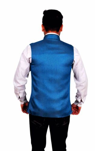 Kameez blu uomo Party Theme stile Shalwar Gilet Bollywood per Nehru Kurta 1012 YPaFqwd