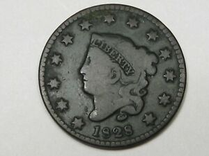 Better-Grade-1828-US-Coronet-Head-Large-Cent-Coin-Small-Date-166
