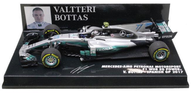 Minichamps Mercedes W08 Spanish GP 2017 - Valtteri Bottas 1 43 Scale
