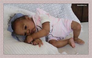 ETHNIC AA BIRACIAL REBORN NEWBORN BABY GIRL DOLL AOIFE,   CERT. OF AUTHENTICITY