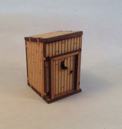 Outhouse 28mm Terrain Old West Tombstone Desperado Legends Knuckleduster MDF