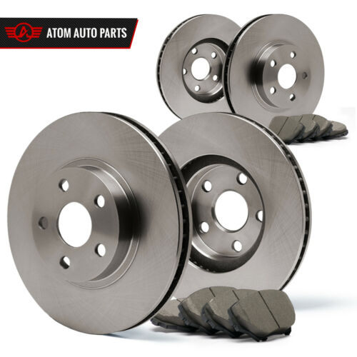 2005 Mercedes Benz C240 4Matic OE Replacement Rotors Ceramic Pads F+R